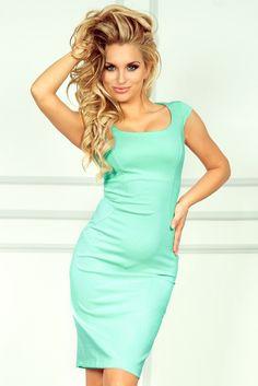 53-1A Nowa dopasowana sukienka - miętowa lacosta #modadamska #sukienkikoktajlowe #sukienkiletnie #sukienka #suknia #sukienkiwieczorowe #sukienkinawesele #allettante.pl