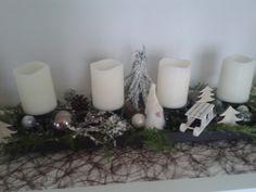 Adventsgesteck mit Wichtel