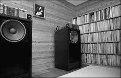 Haruki Murakami record collection. love his record  collection (jazz) and hi-fi equipment...