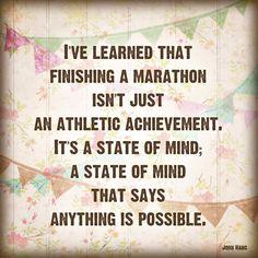 Anything is Possible - INSPIRATIONAL 8x8 Art Print - run marathon race runner digital wall decor colorful brown celebration. $22.00, via Etsy.