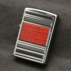 Zippo Pipe With Steel and Wood Accents Lighter