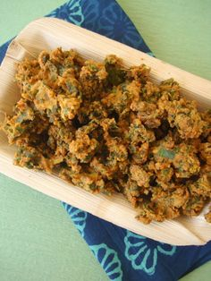 Palak Pakoda is a monsoon snack that is super easy and quick to make. I found the freshest farm grown spinach at the Farmer's Market (rythu bazaar) and decided on making a North Indian style snack Palak Pakoda.