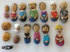 My granddaughter loves rocks so for Easter this year our family each painted rocks to look like us and hid them in plastic eggs, she loves them.