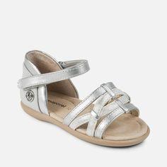 01c351e78d1df Mayoral Silver Sandals – Fox + Kit Children's Boutique #mayoral #sandals  #girlssandals Silver