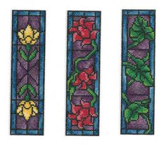 Stained Glass Bookmarks (chart)