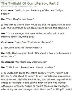 Twilight Vs Harry Potter! Isn't it safe to say HP will win every time?