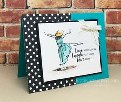 Stampin' Up! Beautiful You stamp set is perfect to watercolor with the Stampin' Up! watercolor pencils!  All details on the website.