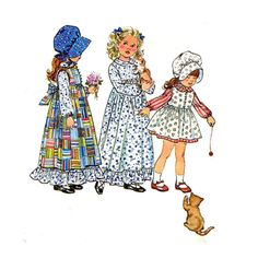 1970's Simplicity 5996 Girl's Holly Hobbie by patternmemories
