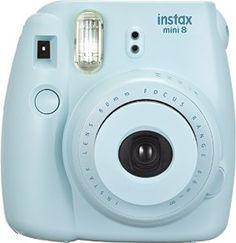 Amazon.com : FujiFilm Instax Mini 8 with Strap and Batteries (Blue) : Polaroid Camera : Camera & Photo