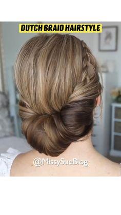 Bun Hairstyles For Long Hair, Braided Hairstyles, Front Hair Styles, Curly Hair Styles, Hair Growing Tips, Bridal Hair Buns, Hair Upstyles, Love Hair, Hair Videos