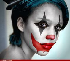 Makeup Was First Used To Make Someones Image Scary Scary Clowns Scary Clown Makeup