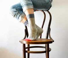 The easiest hand knitted sock ever - with a guaranteed fit! - La Maison Rililie