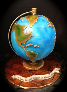 globe cake by debbiedoescakes, via Flickr