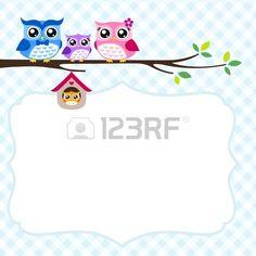 owl family greeting