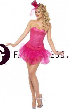 Roze Burleske kostuum    Dit Roze Burleske kostuum bestaat uit.  Een roze korset met een lint sluiting.  Een bijpassende roze tutu rokje.    Maten voor dit kostuum zijn:  Small:  Maat 36 – 38                      Borstomvang tot 90 cm  Taille tot 70 cm  Heupen tot 96,5 cm    Medium:  Maat 40 - 42  Borstomvang tot 98 cm  Taille tot 77 cm  Heupen tot 104 cm    Large:  Maat 44 - 46  Borstomvang tot 107 cm  Taille tot 86 cm  Heupen tot 116 cm