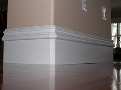 Matching Baseboard Rounded Corner On Wall Floor Molding Styles