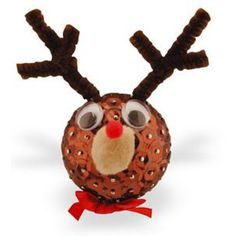 Sequin Ornament Ideas | Home > Sequin & Pin Reindeer Ornament Craft Kit - Makes 20