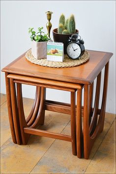 mid century vintage teak G Plan nest of 3 tables by Granstrunkshop