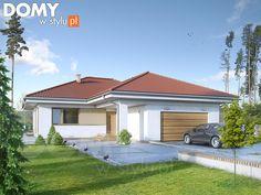 Projekt domu Kiwi 3 - wizualizacja frontowa