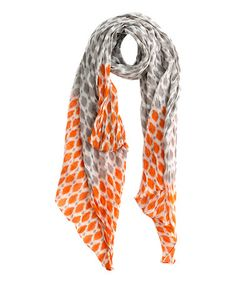 Take a look at this Gray & Orange Dotti Pareo Scarf by Shiraleah on #zulily today! $10 !!