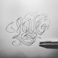 Design resource for typography and lettering lovers We showcase work by incredible artists and provide resources to better serve the typography community - pencil-drawings Chicano Lettering, Tattoo Lettering Fonts, Types Of Lettering, Lettering Styles, Graffiti Lettering, Typography Letters, Lettering Design, Graffiti Drawing, Graffiti Art