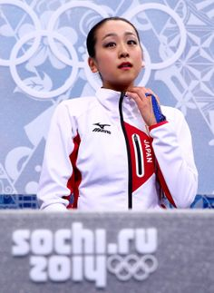 SOCHI, RUSSIA - FEBRUARY 20: Mao Asada of Japan waits for her score in the Figure Skating Ladies' Free Skating on day 13 of the Sochi 2014 Winter Olympics at Iceberg Skating Palace on February 20, 2014 in Sochi, Russia. (Photo by Ryan Pierse/Getty Images) (2189×3000)