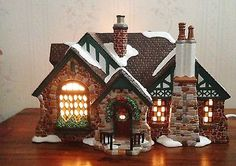 Dept. 56 Tudor House American Architecture Series Snow Village Christmas