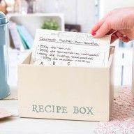 Caja de madera para recetas