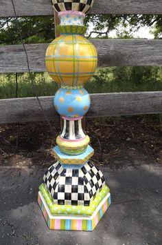 Whimsical Alice in Wonderland Black & White Check Floor Lamp Bulbous Sphere Whimsical Painted Furniture, Painted Chairs, Hand Painted Furniture, Funky Furniture, Painted Lamp, Funky Floor Lamps, Decorative Floor Lamps, Decorative Items, Painting Lamp Shades