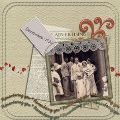 Project Heritage - June kit by Patty B Scraps at Wilma4Ever