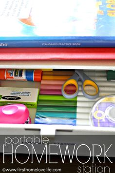 #diy Homework Station for your kids! #children #child #organize #organization #school #homeschool