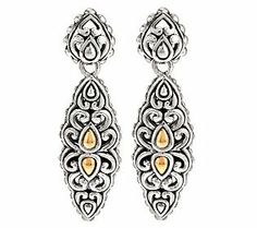 JAI John Hardy Sukhothai Sterling & 14K Gold Accent Drop Earrings | $129.00; QVC