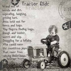 Little Boys and their tractors.I have wonderful memories of my boys riding around on their johndeer tractor Leadership Quotes, Sweet Boys, Baby Boys, Positiv Quotes, Little Boy Quotes, Pomes, Winnie The Pooh, Love Hug, Visual Statements