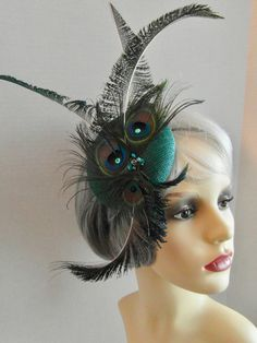Wedding Fascinators, Peacock Feathers, Teal Green, Green Wedding, Ladies Day, Mother Of The Bride, Derby, Your Hair, Special Occasion