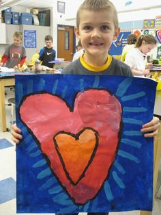 Jim Dine Hearts; emphasis and blending