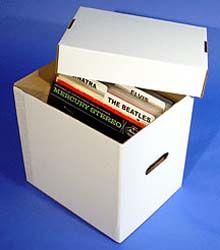 "12"" Record Storage Box, CORRUGATED CARDBOARD"
