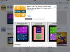 App hvor man spiller mod hinanden i de fire regningsarter.