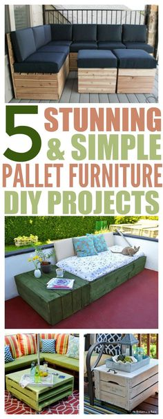Spring has arrived and it's time to start using your outdoor space for eating and relaxing. But, what happens if your patio needs a facelift and you're on a budget? That's easy. Use these awesome DIY project ideas to spruce up your patio area using pallets.