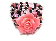 Cotton Candy  Day of the Dead Bracelet  Sugar by sweetie2sweetie, $24.99