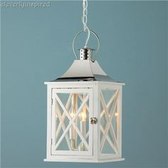 outdoor lamp spray painted white
