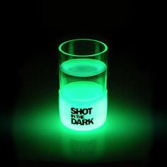 Shot in the Dark Shot Glass. It certainly is... and I'm thinking Absinthe right about now. (For the visual... not a shot at half-eight in the morning!)