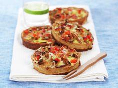 Mager skinkepai Easy Healthy Recipes, Quick Easy Meals, Fresh Eats, Fajitas, Bruschetta, Salmon Burgers, Baked Potato, Nom Nom, Dinner Recipes