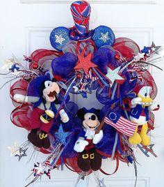 Patriotic Wreath Disney Patriotic Wreath by SparkleForYourCastle,
