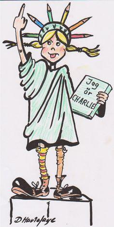 «Charlie» traits pour traits - Libération Daniel Hautefaye, de Suède Caricatures, Charlie Hebdo, Fictional Characters, Sad, Everything, Humor, Fantasy Characters, Caricature, Caricature Drawing