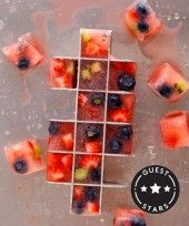 Fruit ice cubes!