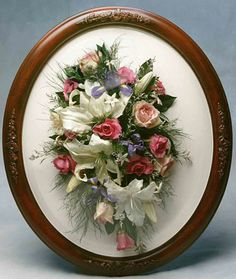 Wedding Bouquet In Oval Wall Dome Frozencreekfloral