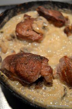Muschiulet fraged cu sos de ciuperci (18) Romanian Food, Steak, Cooking, Pork, Cuisine, Kitchen, Steaks, Brewing, Kochen