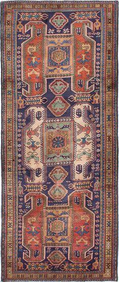 Hand-knotted Meshkin Dark Navy Wool Rug