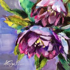 "Happy, original 6""x6"" oil painting by Lancaster, Pa artist Kim Smith #originalart #floralart #flowerpainting #dailypainting"