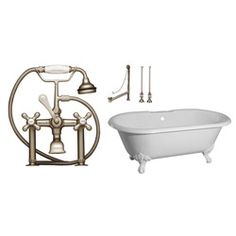 Love this clawfoot tub and the old looking but new faucet!  It would look awesome in a old looking rustic log bathroom :)